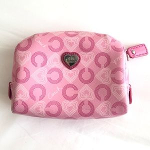 Coach Boxy Cosmetic Bag in Pink Heart Print